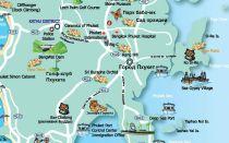 Карта Пхукета